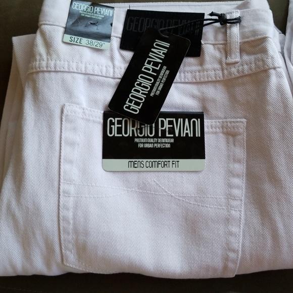 3dfb85f5 Georgio Peviani Jeans   White Denim Mens 3829   Poshmark